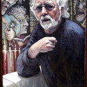 A Portrait of Mr Alan.R.Pearson (Artist extraordinaire) Painting, 51point2 H x 35point4 W x 0point8 in Justin Pearson