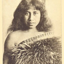MAORI Beauty LADY etnic old 1910