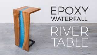 Floating Epoxy Waterfall River Table