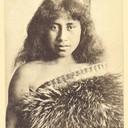 MAORI Beauty LADY etnic old 1910