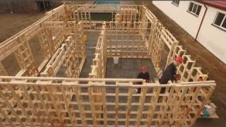 Fastest Unusual Wooden House Build Skills - Amazing Intelligent Log House Building Process